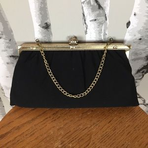 Vintage Black Purse with Chain.